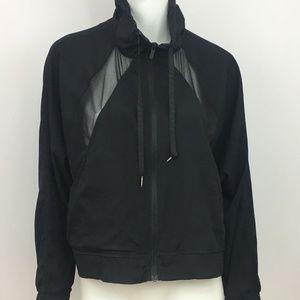 Lululemon Jacket Black Sheer Cutouts Z5 Size 6